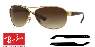 Patillas-Varillas Ray-Ban 3386 Originales