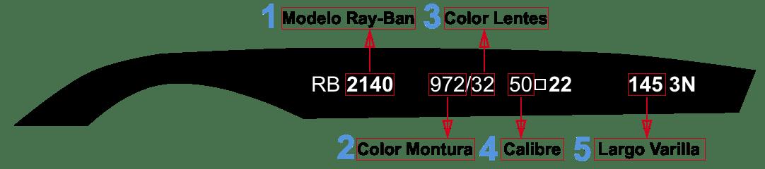 Patillas Ray Ban