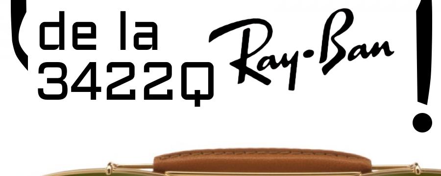 ¿Cómo cambiar la sudadera de la Ray-Ban 3422Q?
