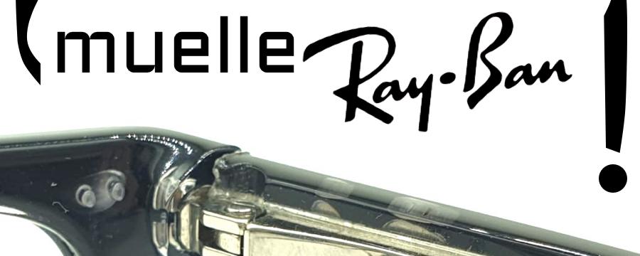 ¿Cómo cambiar las varillas de bisagra con muelle Ray-Ban?