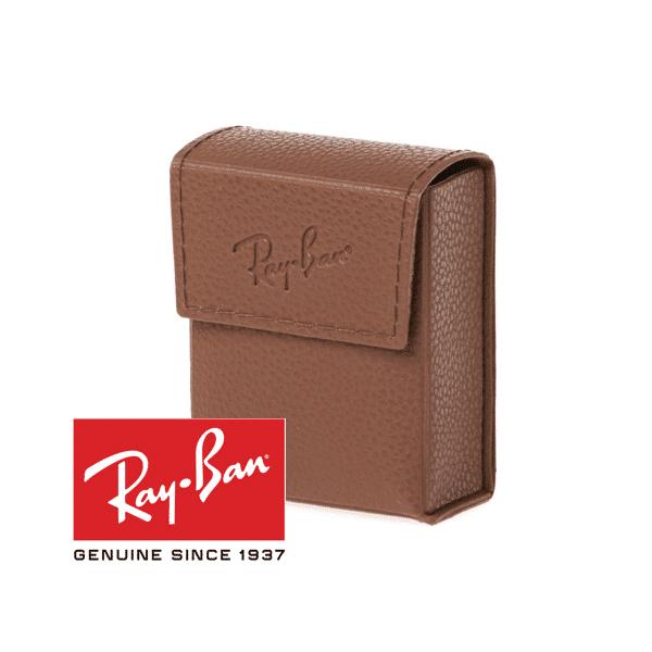 Original Ray Ban faltbare braune Sonnenbrille Fall