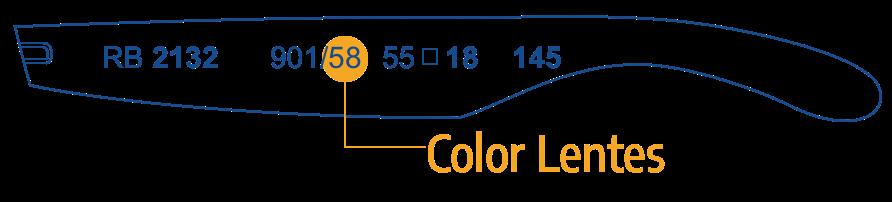 Identifica Color Lentes Ray Ban 1