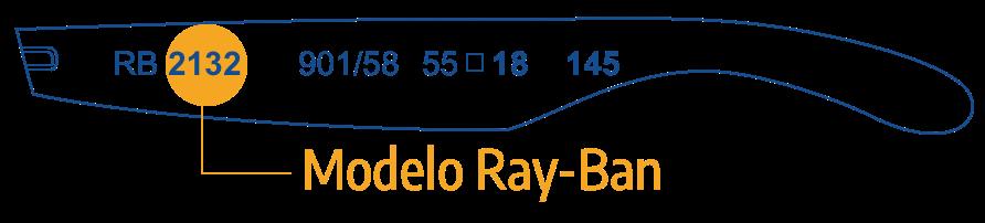 Identificar ou modelo Ray Ban