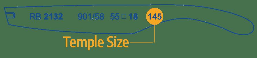 Identify Ray Ban arm Size 1