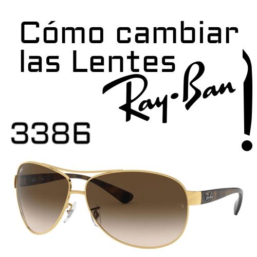 Como cambiar las lentes Ray Ban 3386